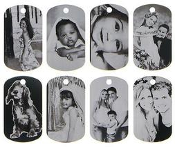 CUSTOM MADE PERSONALIZED PHOTO LASER DOG TAG PICTURE PENDANT