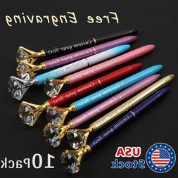 10pack Custom Personalized Pen, Diamond Pens Name-logo pens