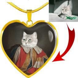 Custom Pet Portrait, Pet Necklace, Dog Memorial, Cat Memoria