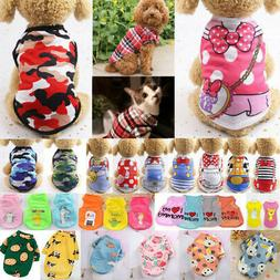 Cute Pet Dog Cat Clothes Summer Puppy T Shirt Clothing Small