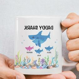 Daddy Shark Mug Personalized Gift For Dad For Fathers Day Pe