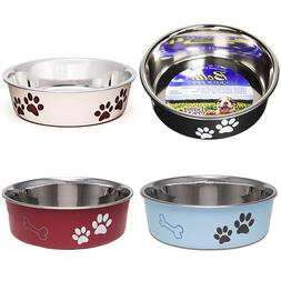 Designer Dog Water Food Bowl Feeding Stainless Steel Pet Cat