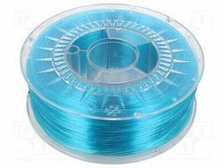 DEV-PETG-1.75-BLT Filament: PET-G - azure blue - transparent