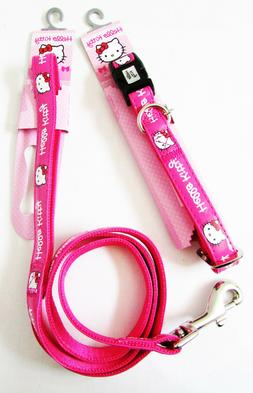 HELLO KITTY Discontinued Pet Pink Adjustable Leash Collar ME