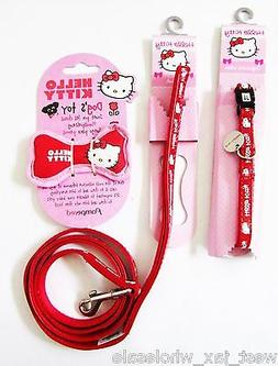 Hello Kitty Discontinued Pet Red Dog Leash Collar Bone Chew