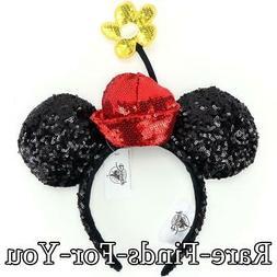 Disney Parks Minnie Mouse Sequined Ear Daisy Flower Pot Hat