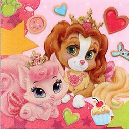 Disney Princess PALACE PETS beverage PAPER NAPKINS birthday