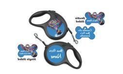 Disney Up Balloons Pet Id Dog Tag & Retractable Leash Person