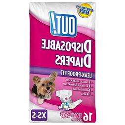 OUT! Pet Care Disposable Female Dog Diapers | Absorbent with