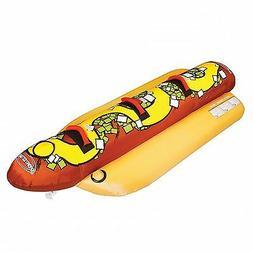 Sportsstuff Hot Dog 3 Person Inflatable Boat Lake Water Towa