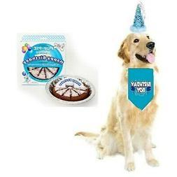 JT Pet Dog Birthday Boy Party Dog Birthday Cake Pack with Ba