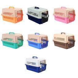 Dog Carrier Plastic Pets Transport Crate Durable Cat Carrier