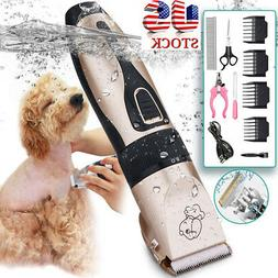 Dog Cat Pet Grooming Kit Rechargeable Cordless Electric Hair