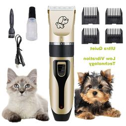 Dog Clippers for Grooming Pet Shaver Kit Cordless Quiet Elec