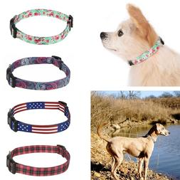 dog collar designer print adjustable pet collar