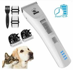 Dog Grooming Clippers Kit Quiet Cordless Pet Electric Shaver