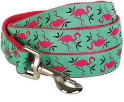 "Blueberry Pet Dog Leash Pink Flamingo 5' x 5/8"" S M"
