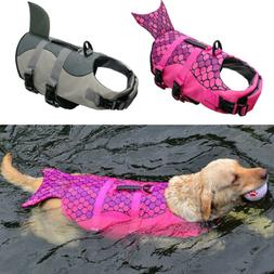 Dog Life Jacket Pet Safety Vest Swimming Saver Preserver for
