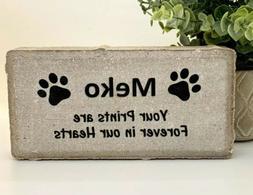 Dog Memorial Stone- Personalized Dog Burial Marker-Pet memor