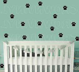 "Dog Paw Print Decals Pet Animal 1.5"" or  2.5"" Wall Window Fl"
