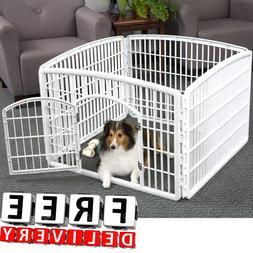 Dog Pen Kennel Playpen Outdoor Indoor Small Pet Puppy Exerci