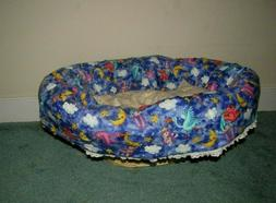 Dog --Pet  Bed Quilted Reverisable Handmade Timeless Treasur