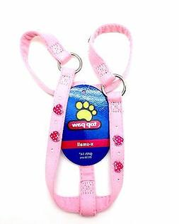 Top Paw Dog Pet Step In Harness Puppy Harnais Pink Hearts Ex