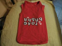 Casual Canine Dog / Pet Tee shirt Puppy Love Red Size Small