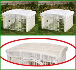 IRIS Dog Playpen White Mesh Cover Roof For Small Pets Indoor