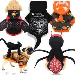 Dog Pumpkin Costume Pet Halloween Hoodie Doggie Winter Coat