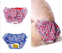 Dog Puppy Diaper Sanitary Pants Skirt Dress COTTON Female Gi