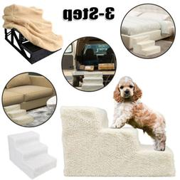Dog Steps For High Bed 3 Steps Pet Stairs Small Dog Cats Ram