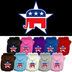Dog Sweatshirt Hoodie Republican RNC Screen Print Pet Hoodie