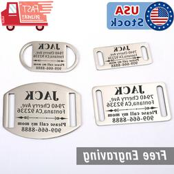 Dog Tag Slide-On Personalized Pet cat Tags Silent No Noise C