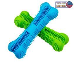 Dog Toothbrush Chew Toy Bone - Pet Dental Teeth Brushing Cle