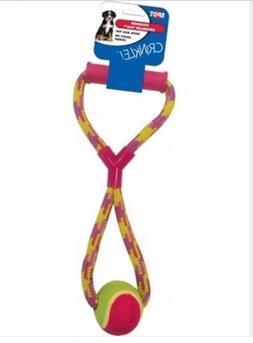 Dog toy tug Rope Ethical Spot Rainbow Crinkler Tennis Ball t