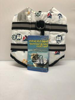 Paws Aboard Doggy Life Jacket Extra Small-Nautical Dog