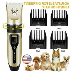 Dogs Cats Clippers Low Noise Pet Rechargeable Cordless Trimm