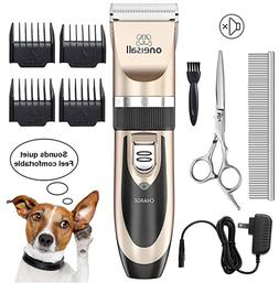 Dogs Cats Pets Rechargeable Low Noise Shaver Clippers Profes