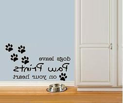 dogs leave paw prints pets wall decals