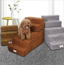 Easy 5 Steps Dog Stairs for High Bed Pet Cat Ramp Ladder wit