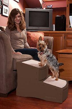 Pet Gear Easy Step II 2 Steps Dog Cat Pet Steps Ramp CHOCOLA