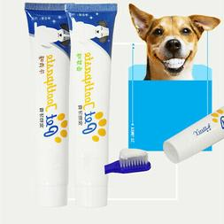 Edible Dog Puppy Cat Toothpaste Cleaning Teeth Care Oral Hyg