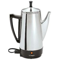Electric Percolator 12 Cup Stainless Steel Coffee Maker Pot