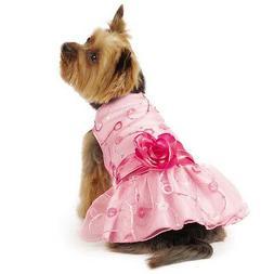 elegance rosette dog dress pet dresses pink