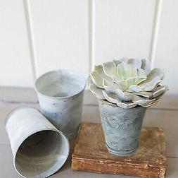 English Zinc Potting Pots Set of 3