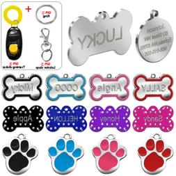 Engraved Pet Dog Tags Custom Cat ID Name Tags for Pets Perso
