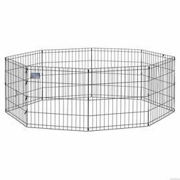 Pet Exercise Pen Foldable Playpen Cage Kennel Dog Fence Trai