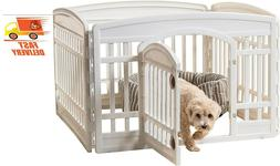 Exercise Pet Playpen, 4 Panels With Door, 24 Inch, Cats, Dog