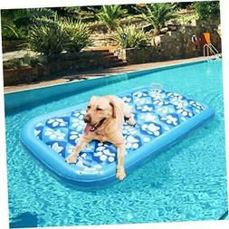 EXPAWLORER Inflatable Dog Pool Float - Ride On Pool Raft Toy